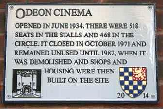 Odeon Cinema plaque, Lewes