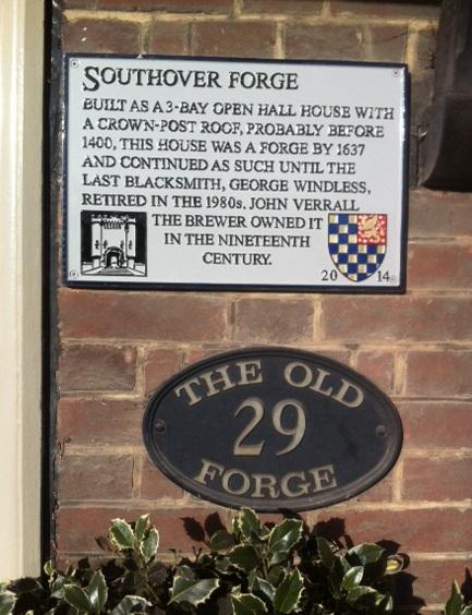 Southover Forge plaque, Lewes