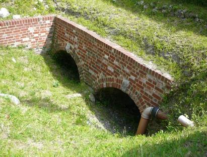 Offham Chalk Pits tunnel entrances, close to the Chalk Pit Inn car park entrance