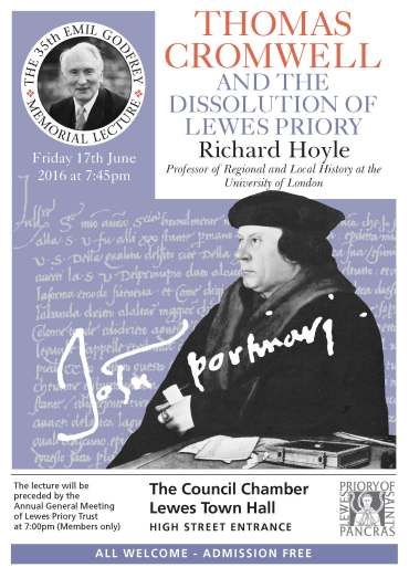 Lewes Priory Hoyle lecture poster 2016