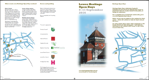Lewes Heritage Open Day 2016 leaflet