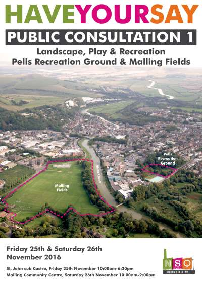 Lewes North Street Quarter playing fields public consultation flyer