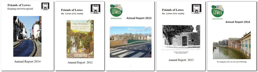 Friends of Lewes Annual Reports front pages