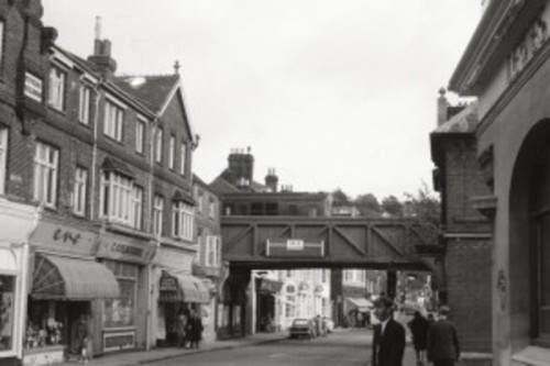 Railway bridge over High Street Lewes
