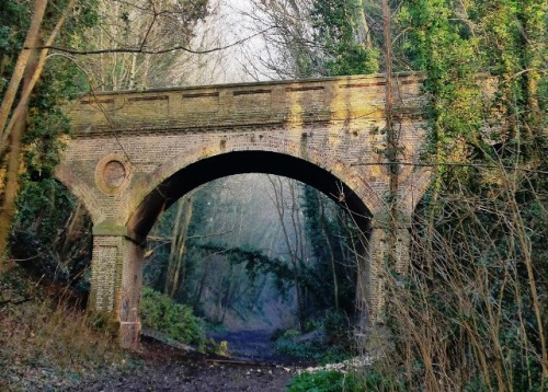Bridge carrying Church Lane over former 1868 railway line to Uckfield