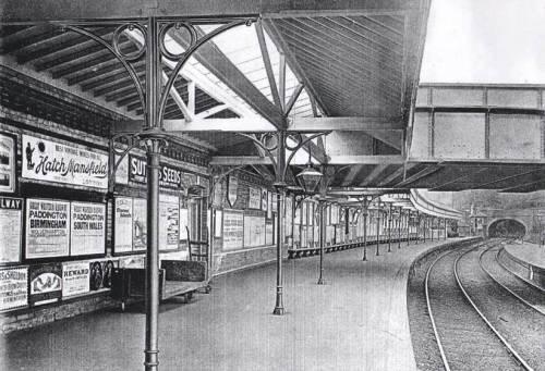 Lewes railway station platform c.1890s