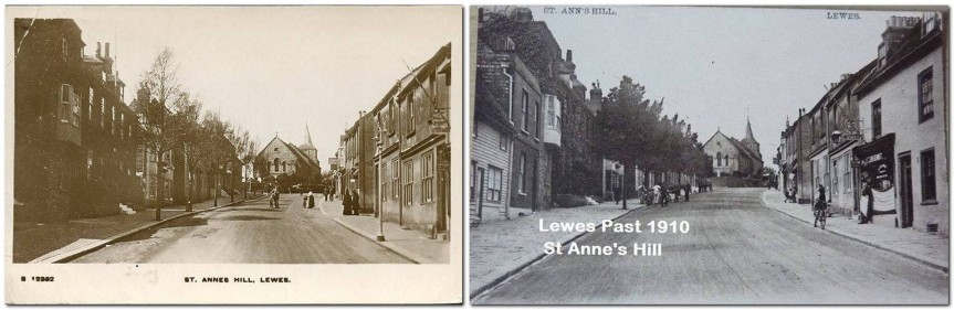 St Anne's Hill Elms, Lewes, 1916 and 1910