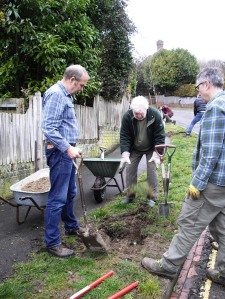 Planting trees, Houndean Rise, Lewes