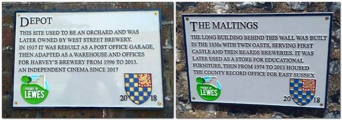 Depot and Maltings plaques, Lewes