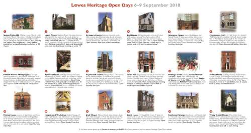 Lewes Heritage Open Days 2018 leaflet