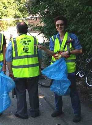 Litter Free Lewes jackets donated by Friends of Lewes