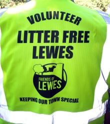 Litter Free Lewes jacket sponsored by Friends of Lewes