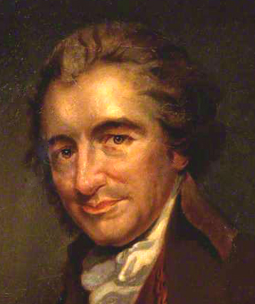 Thomas Paine, copy by Auguste Millière after an engraving by William Sharp after George Romney oil on canvas c. 1876-1792