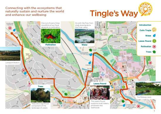 Tingles Way guide map