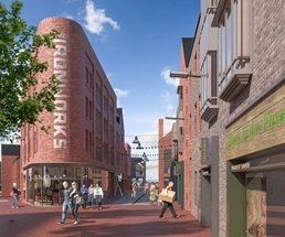 Lewes North Street Quarter new ironworks building cgi