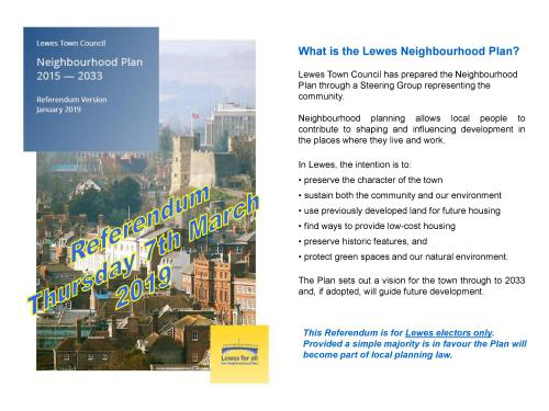 Lewes Neighbourhood Plan Referendum leaflet