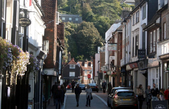 Cliffe in Lewes showing trees