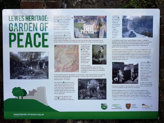 Garden of Peace information board