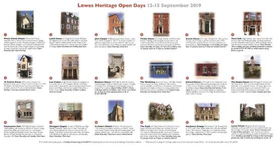 Lewes Heritage Open Days 2019 leaflet