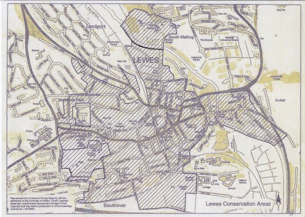 Lewes Conservation Areas map 2012