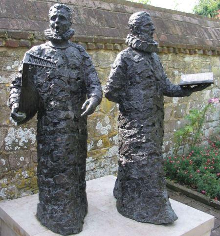 Madrigal singers sculpture at Grange Gardens, Lewes