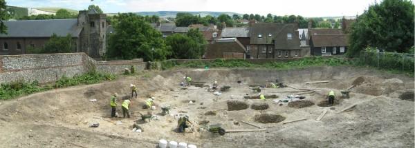 Lewes House excavation