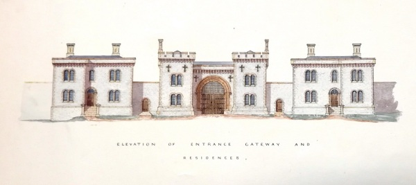 Elevation of proposed Lewes Prison, ESRO