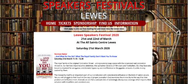 Lewes Speakers Festival 2020
