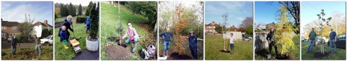 FoL tree planting, Lewes, November 2020