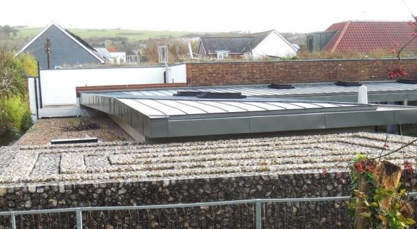 Depot Cinema flint roof and wall, Lewes