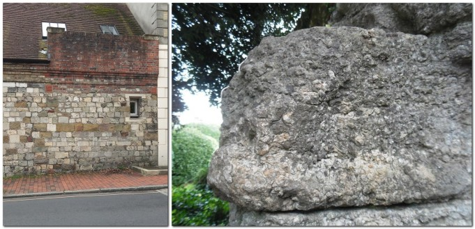 Southover High Street wall, and Lewes Priory gateway