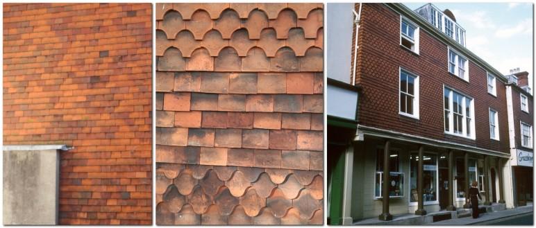 Tile hanging, plain, fancy, and Elphick's, Lewes