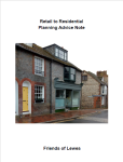 Retail to Residential Planning Advice Note