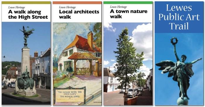 Lewes self guided walks leaflets