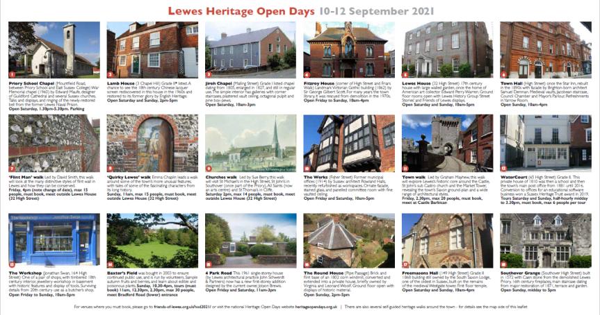 Lewes Heritage Open Days 2021 brochure 0908 update
