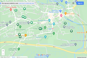 Google map of trees planted by the Friends of Lewes since 2014