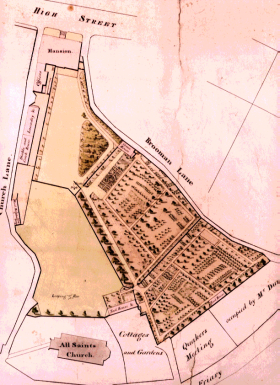 Map showing Lewes House