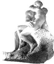 Rodin sculpture The Kiss